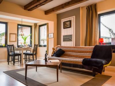 Wohnzimmer in der Ferienwohnung der Familie Schwarz in Seedorf - Urlaub auf Rügen